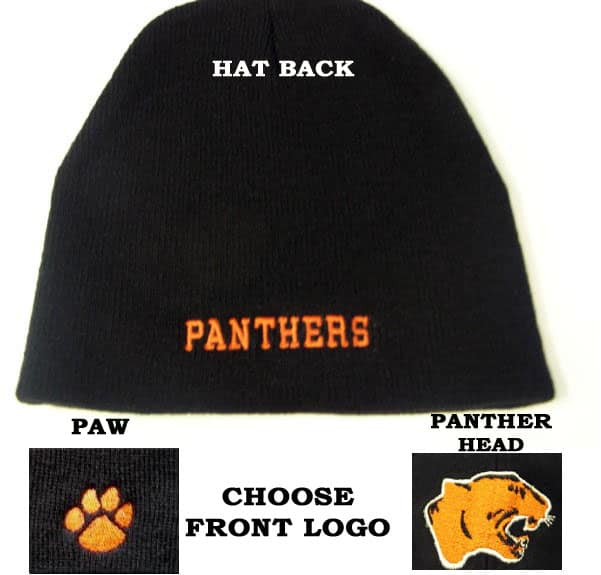 PANTHERS KNIT HAT W/ LOGO