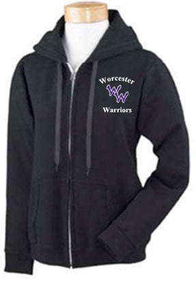 WARRIORS LADIES FULL ZIP HOODIE