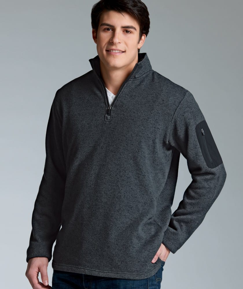 Vin Bin Men's Heathered Pullover – Charcoal Heather | Embroidery ...