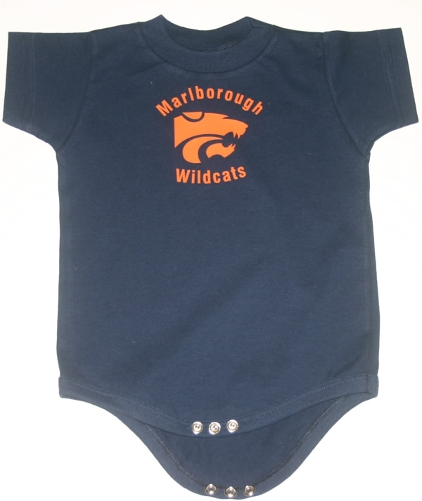 Wildcats Vinyl Printed Onesie Navy Embroidery Unlimited