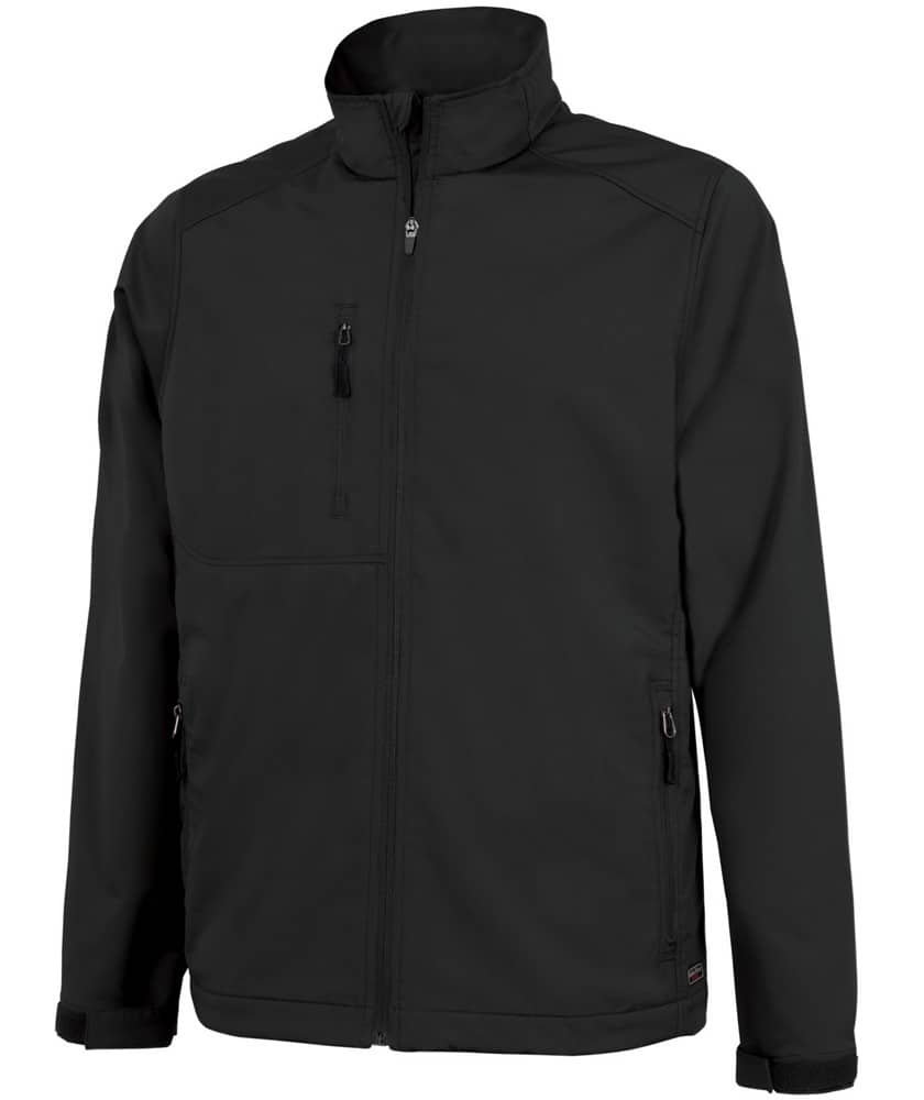 EMBROIDERED MENS (BLACK) & WOMENS (WHITE) SOFTSHELL JACKET