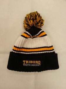 a84187af1d8 Add to cart · Triboro Titans TRIBORO STRIPED POM POM HAT – BLACK GOLD WHITE  ...