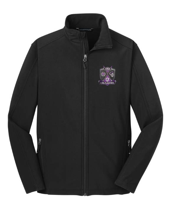 JUNIOR CRUSADERS EMBROIDERED SOFT SHELL JACKET – BLACK | Embroidery  Unlimited