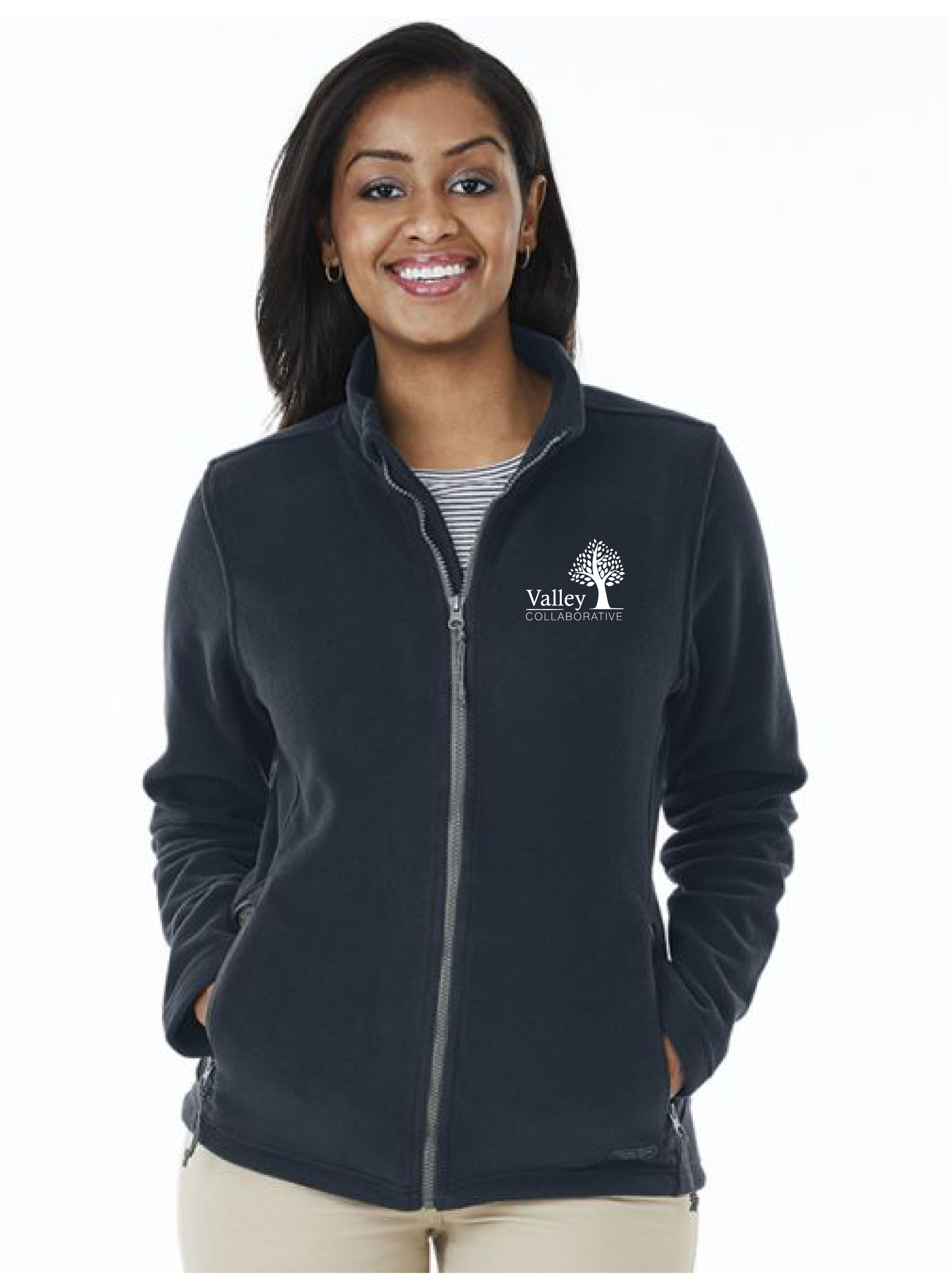 VALLEY COLLABORATED EMBROIDERED MEN'S OR WOMEN'S FLEECE JACKET – NAVY |  Embroidery Unlimited