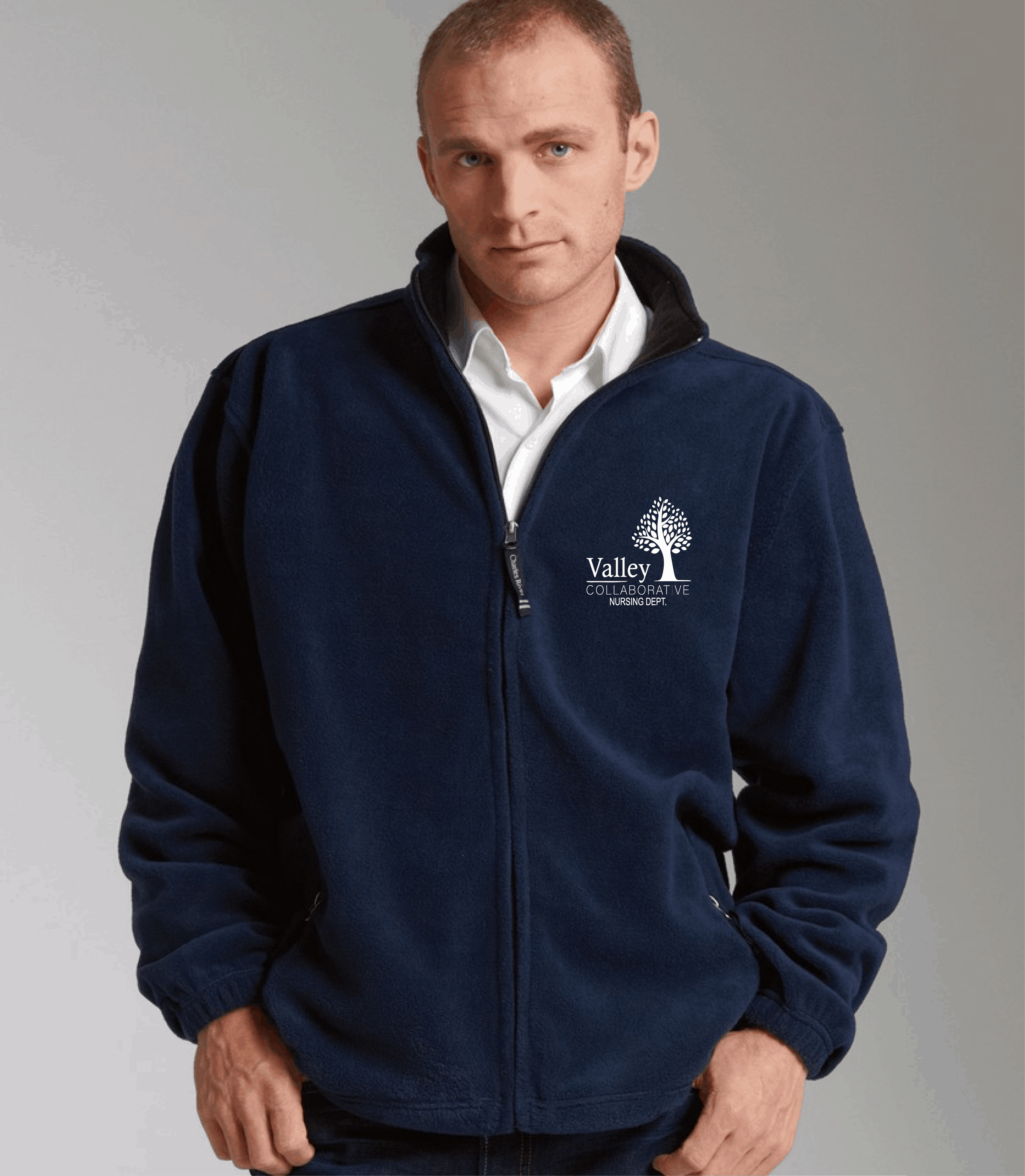 valley collaborated embroidered men s or women s fleece jacket